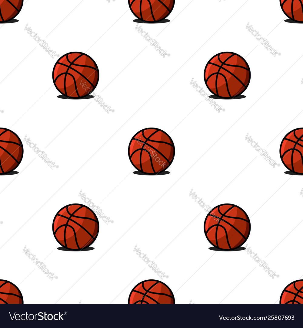 Basketball balls sports seamless pattern modern