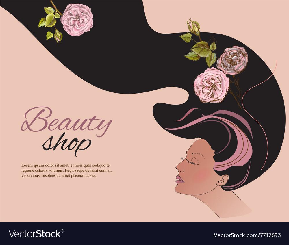 Beauty shop gir vector image
