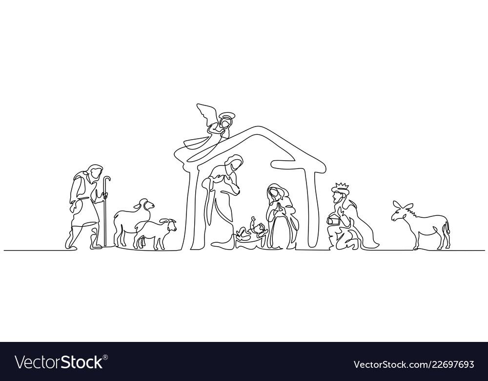 Bible scene of holy family
