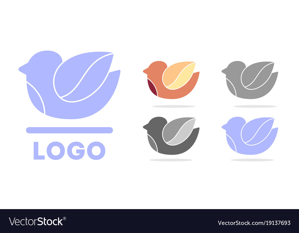 Bird logo dove silhouette