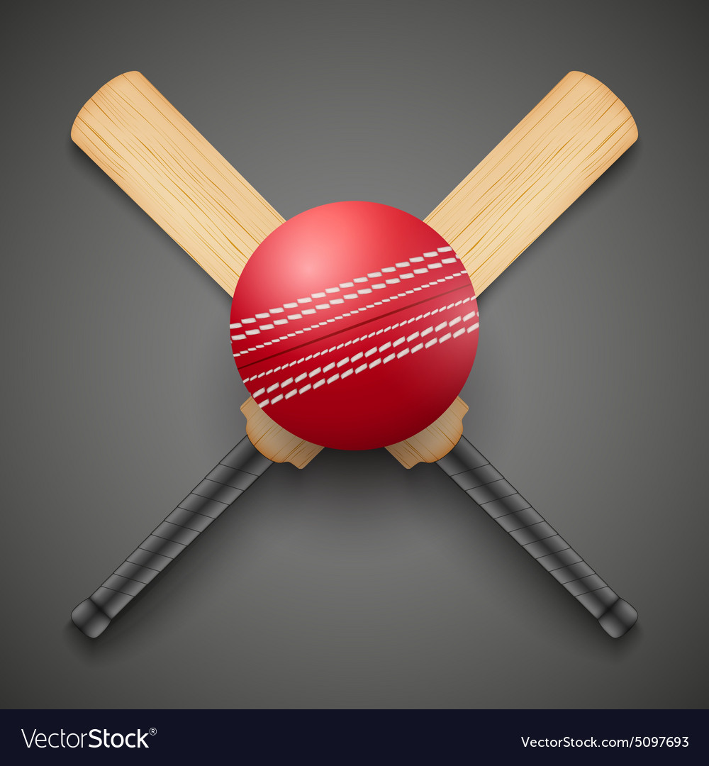 18e46e69886 Cricket leather ball and Royalty Free Vector Image