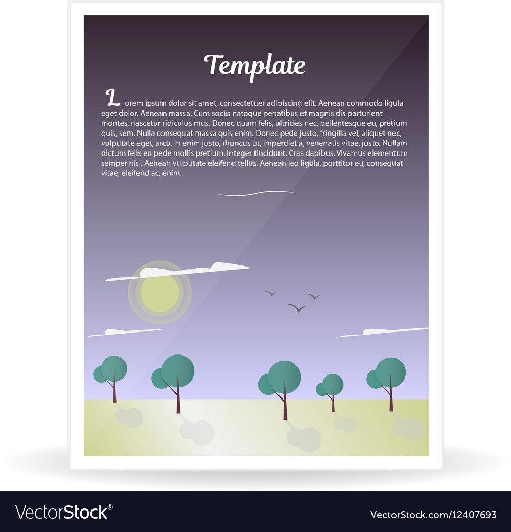 Design template banner nature and forest