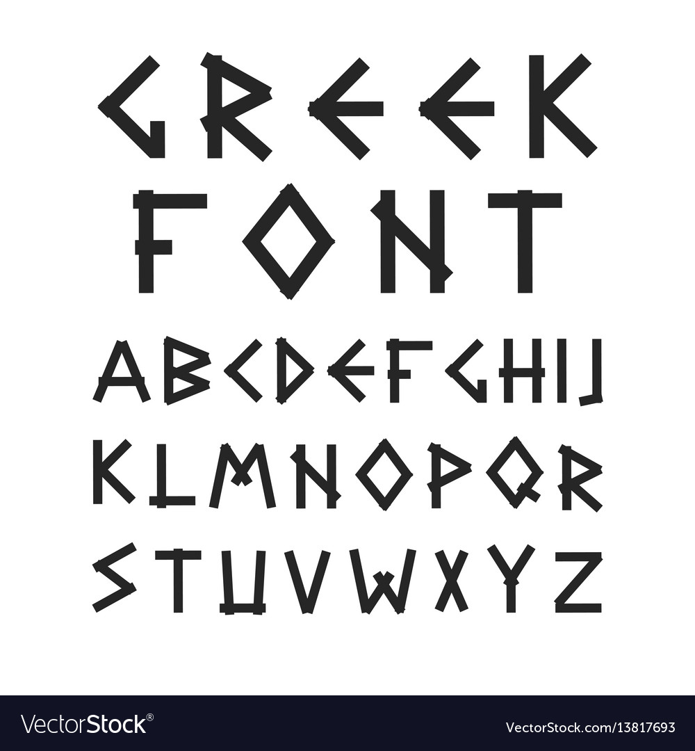 English alphabet in ancient style