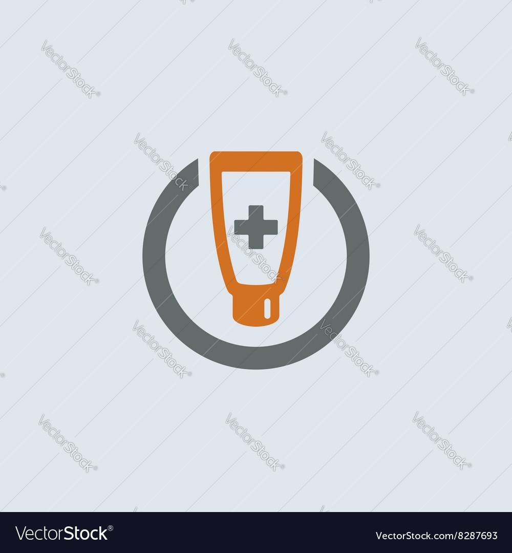Gray-orange Ointment Round Icon