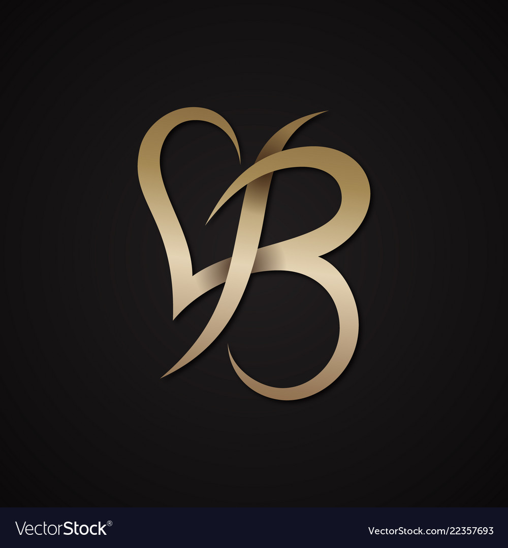 Letter b love Royalty Free Vector Image - VectorStock