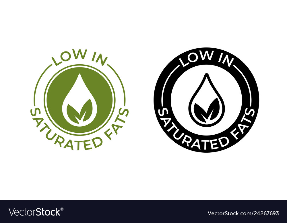Low in saturated fats icon food package seal free
