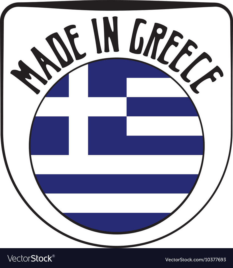 Made in Greece rubber stamp