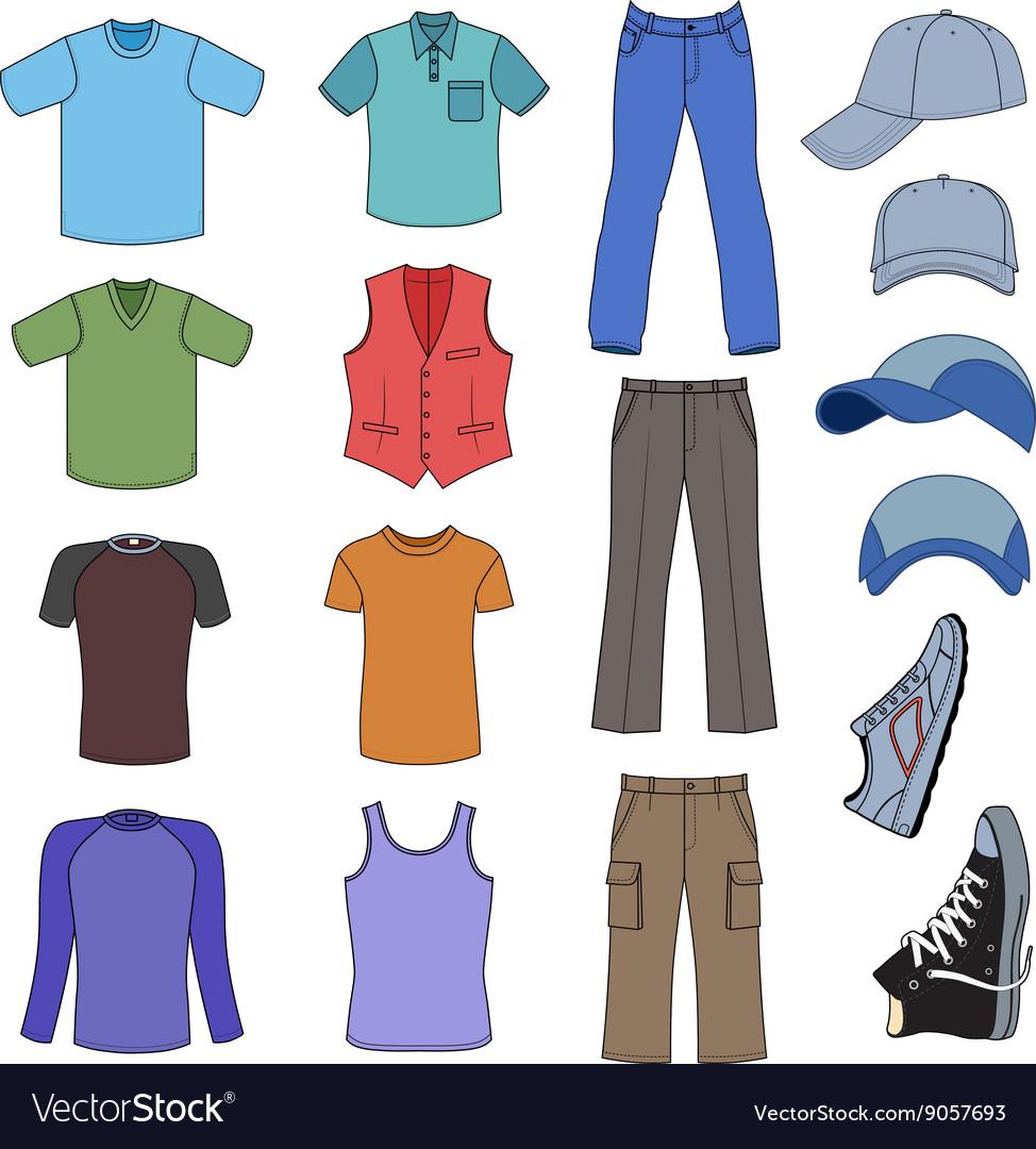 Menswear headgear shoes colored season collection
