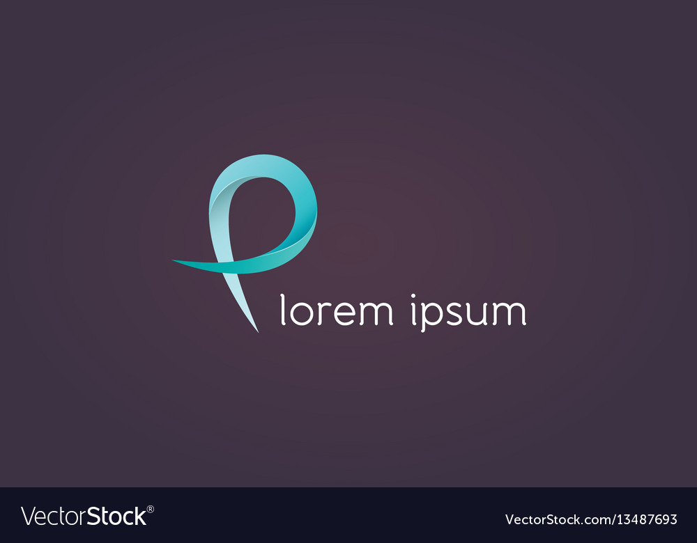 P letter icon vector image