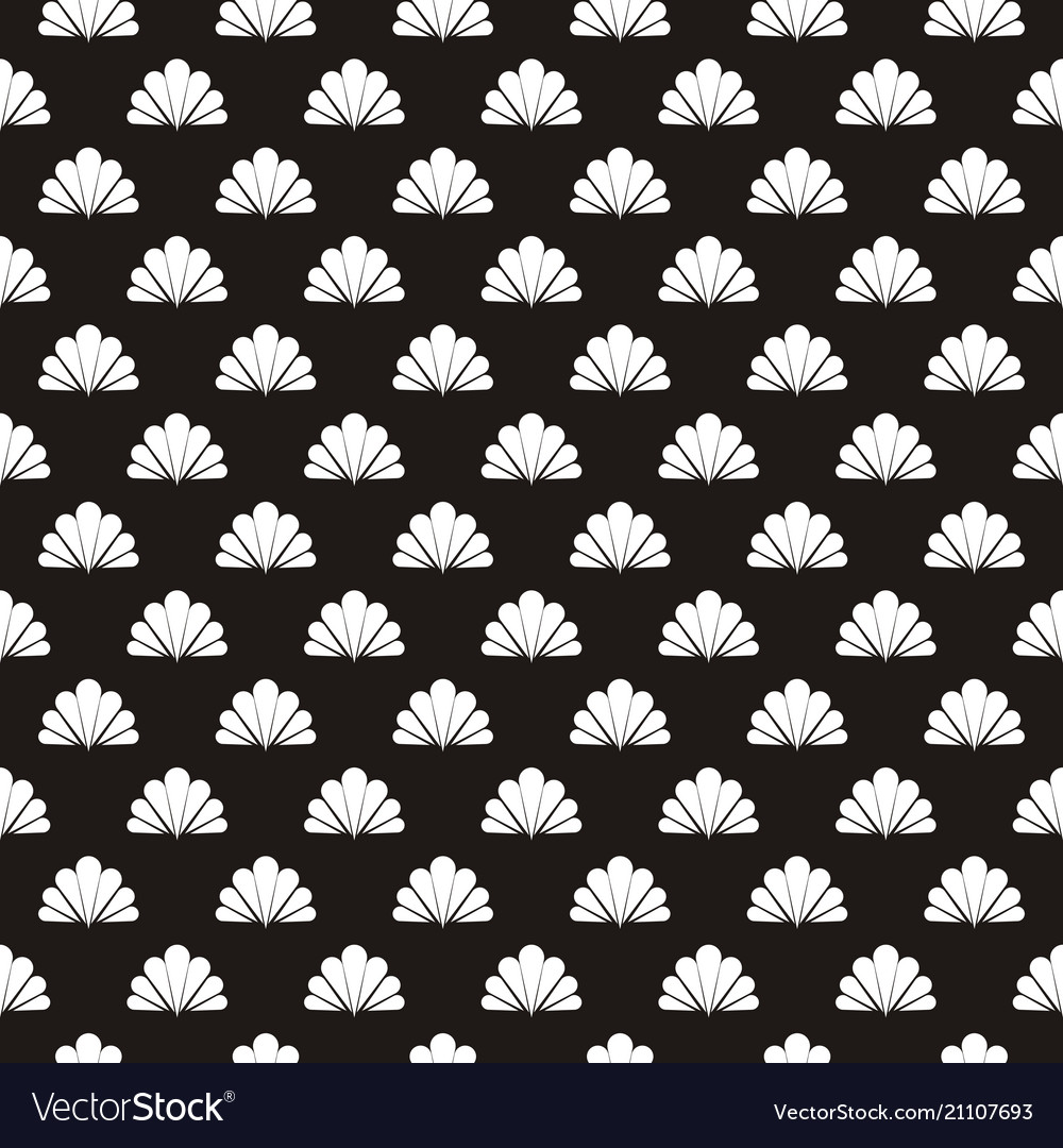 Seamless flower polka pattern