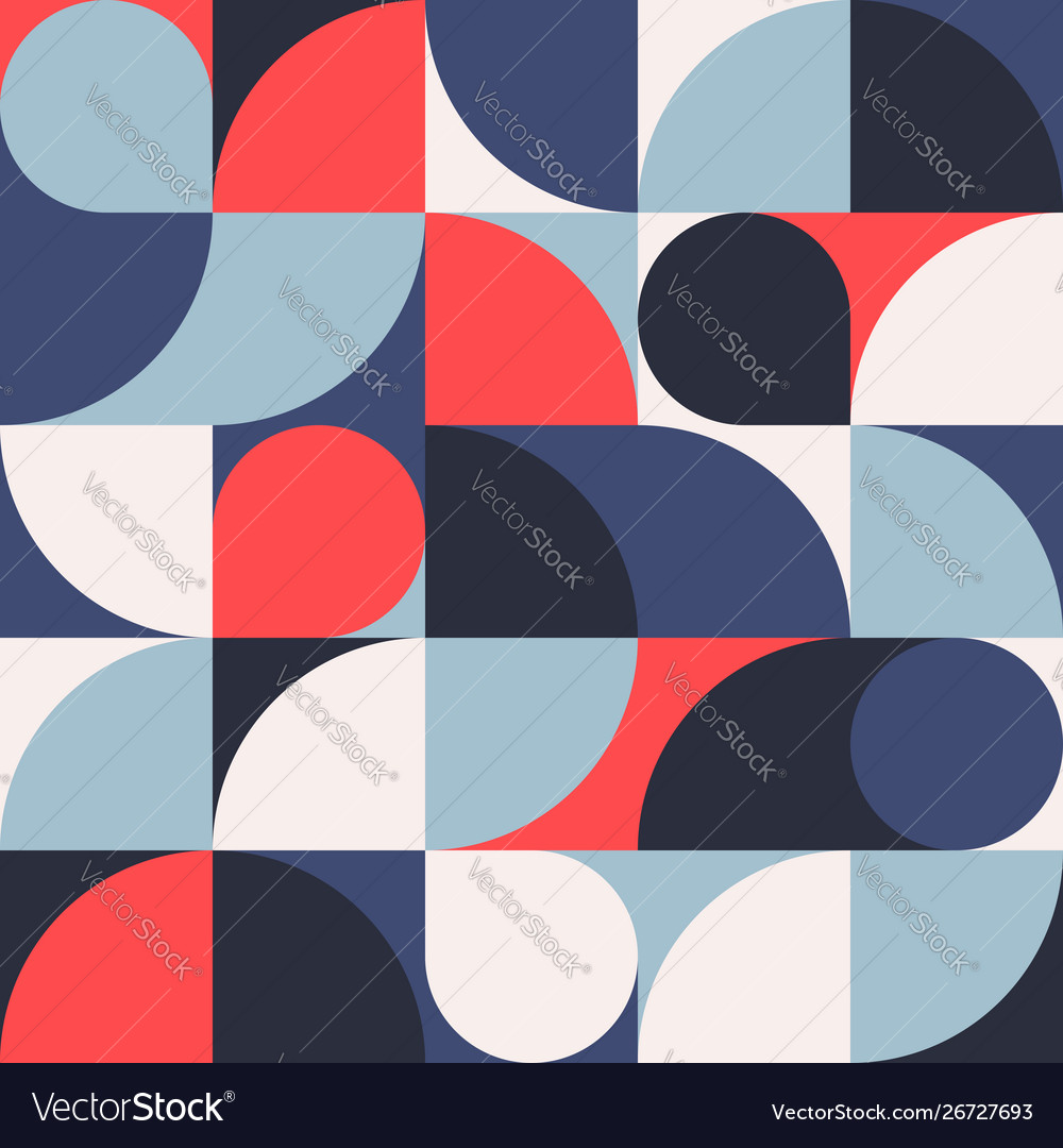 Seamless red-blue abstract geometric print
