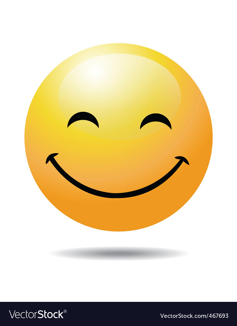 smiley face royalty free vector image vectorstock rh vectorstock com happy face vector free happy face emoji vector