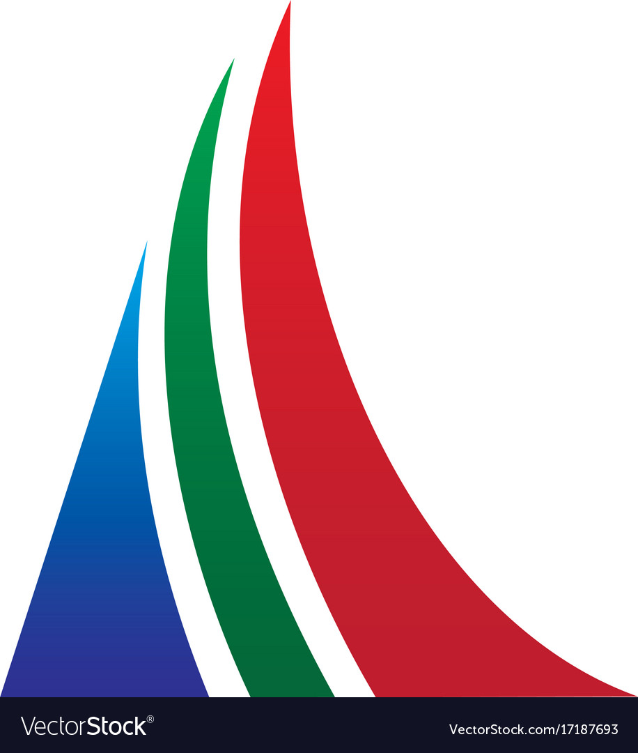 Triangle arrow business logo