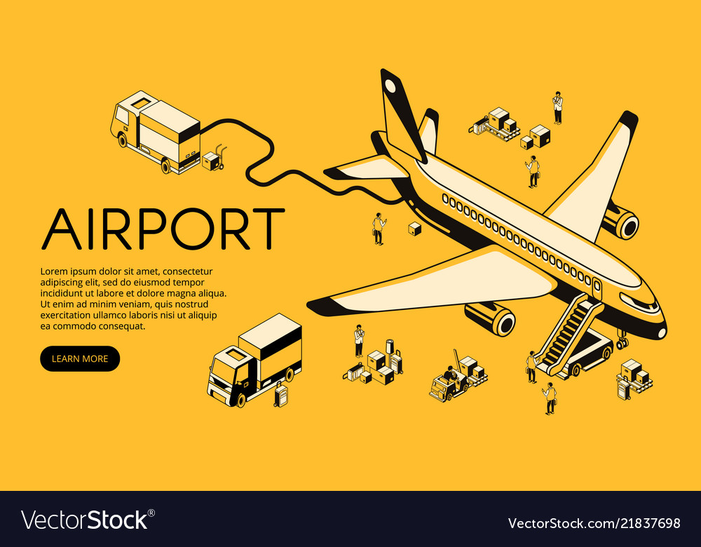 Airplane in airport halftone