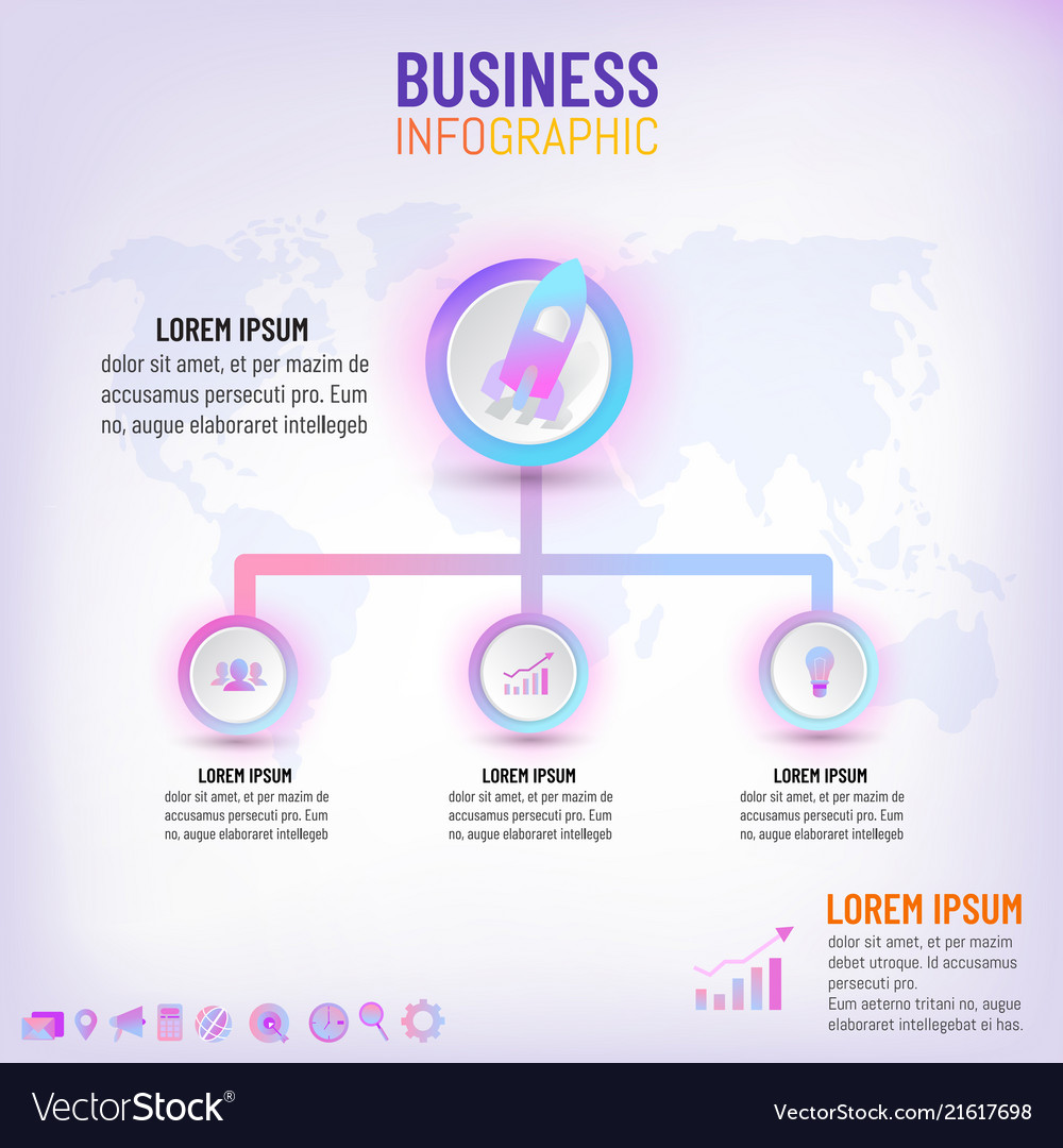 Business presentation infographic template with 3