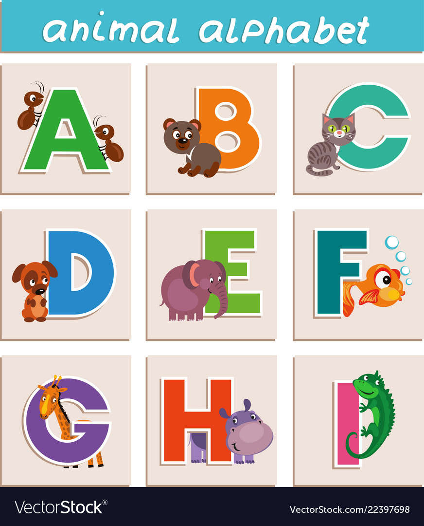 Cartoon animal alphabet