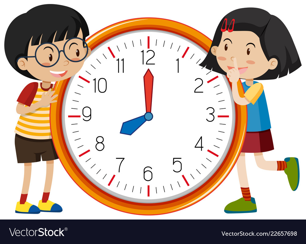 Cute Children Clock Template