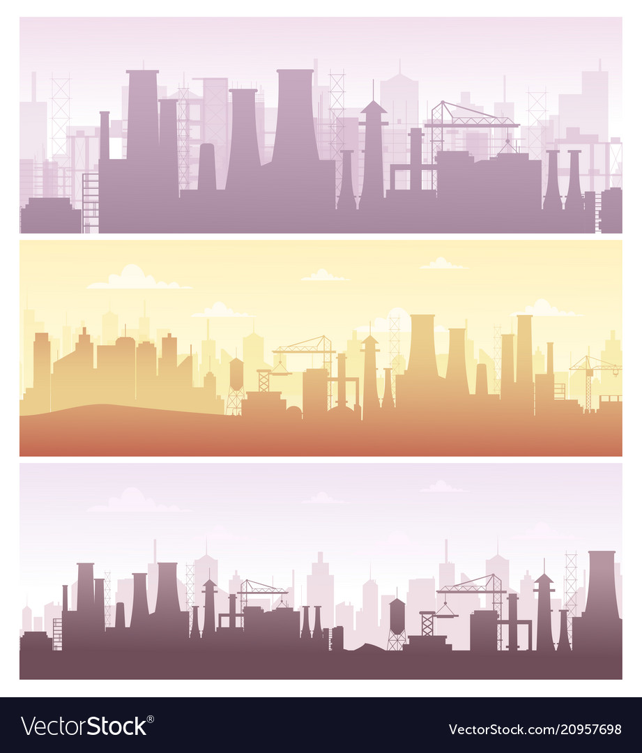 Set of industrial backgrounds