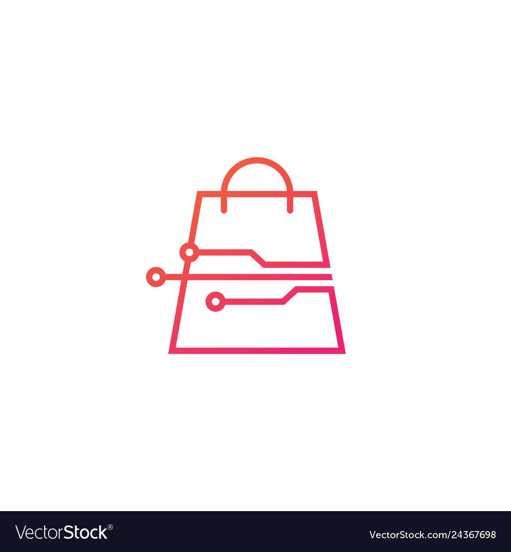Smart shop tech logo icon