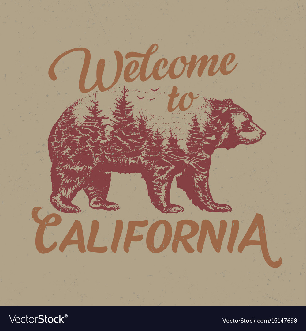 Welcome to california t-shirt label