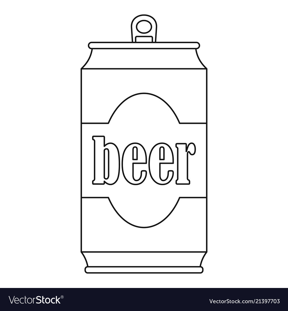 Beer can icon outline style