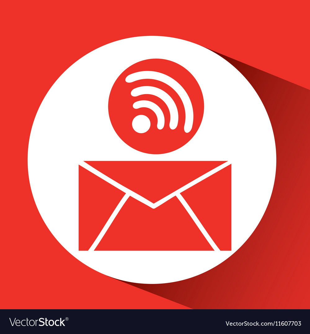 Cloud email connection internet concept graphic vector image