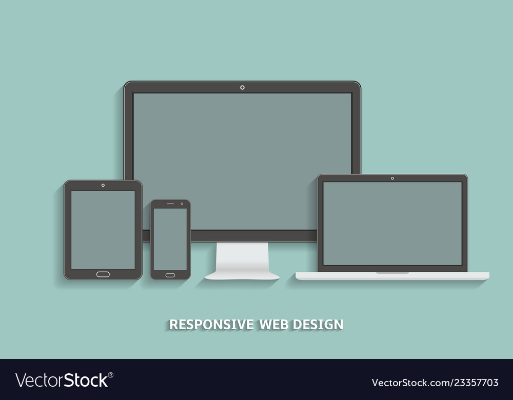 Modern technology devices template for responsive