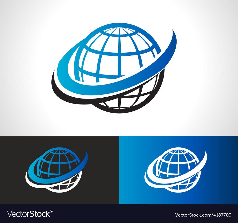 Swoosh World Logo Icon