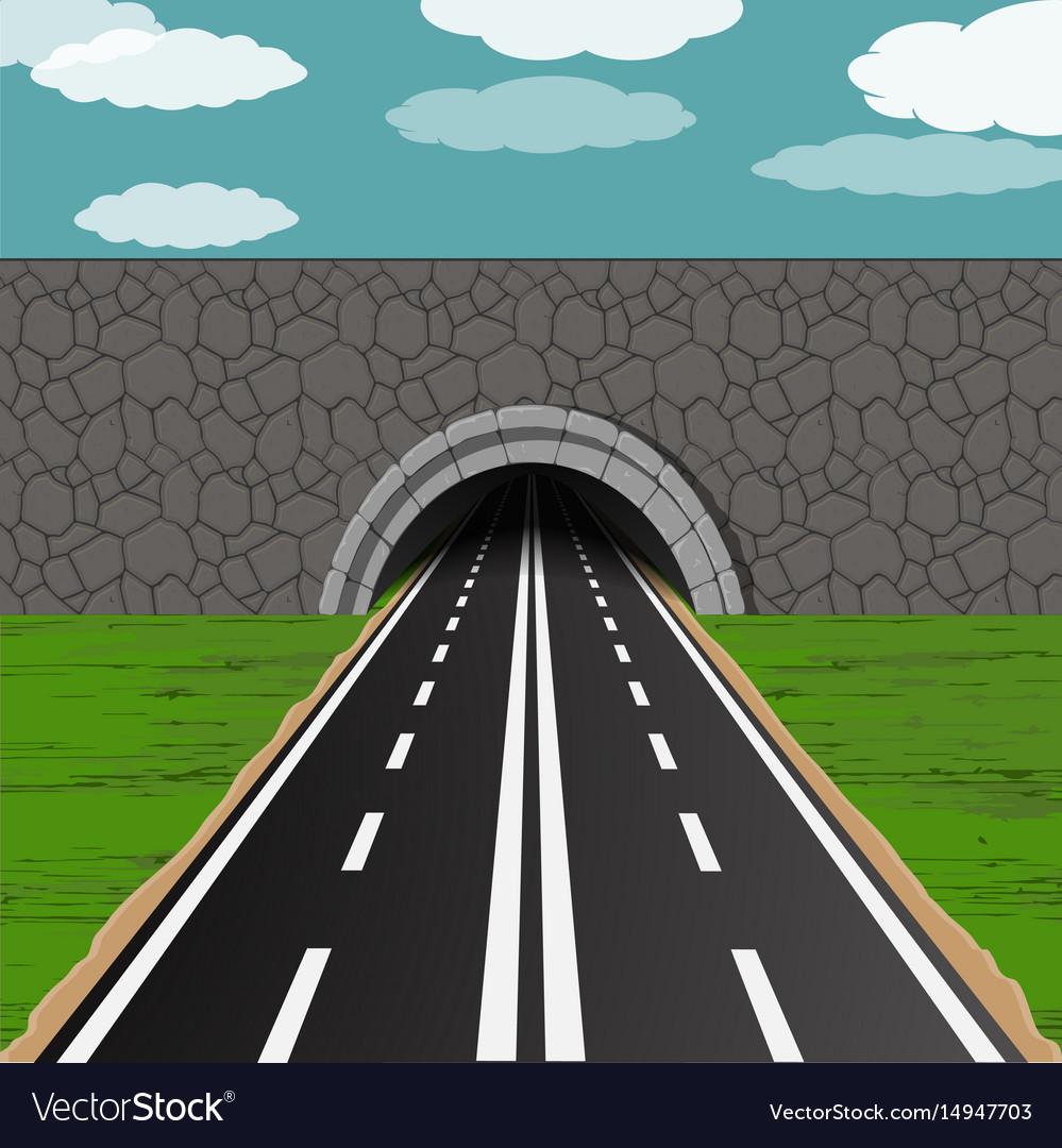 tunnel with road royalty free vector image - vectorstock  vectorstock