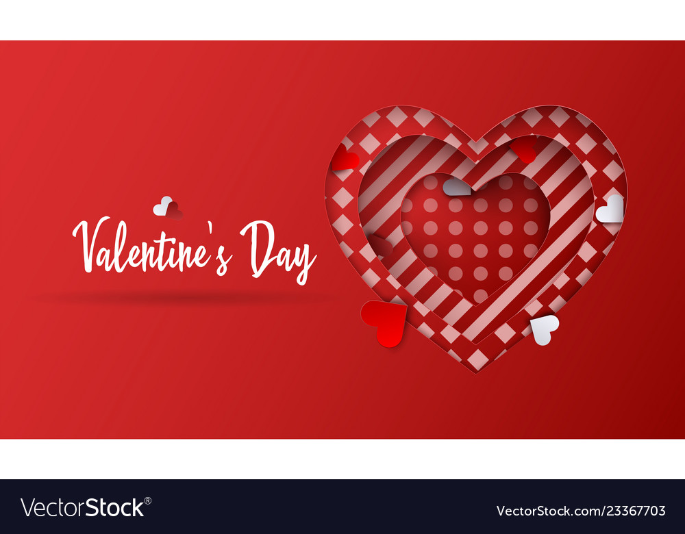 Valentines day background abstract heart