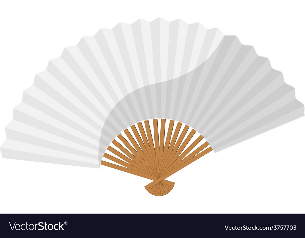 White folding fan vector image