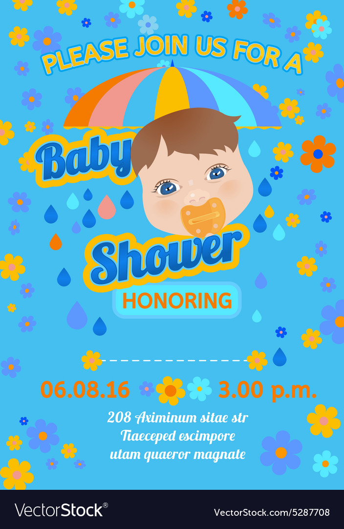 Baby Shower Message Card Royalty Free Vector Image