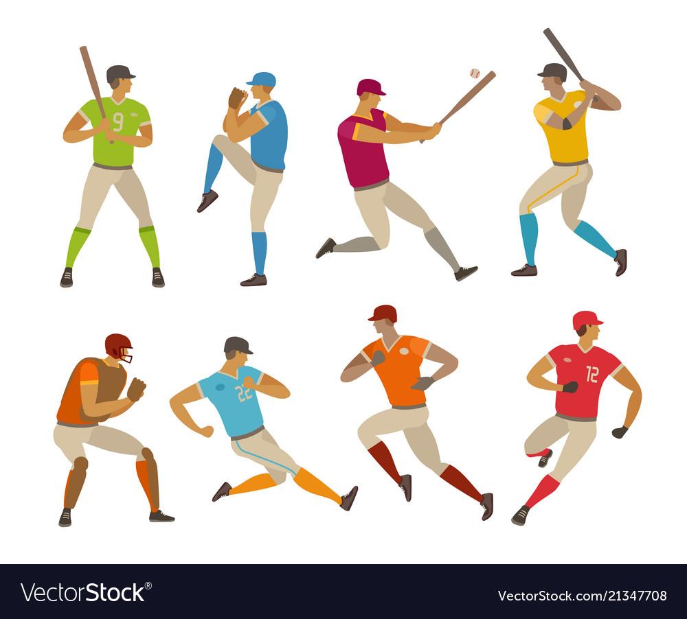 Baseball players sport concept cartoon