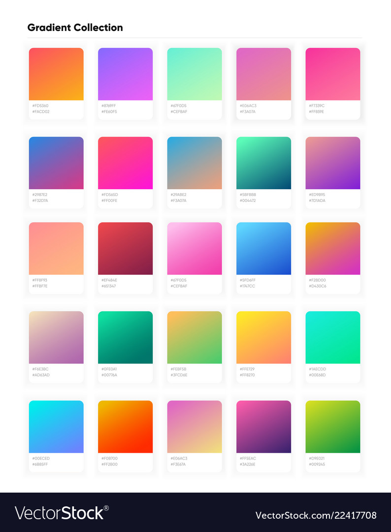 Beautiful color gradient collection gradients