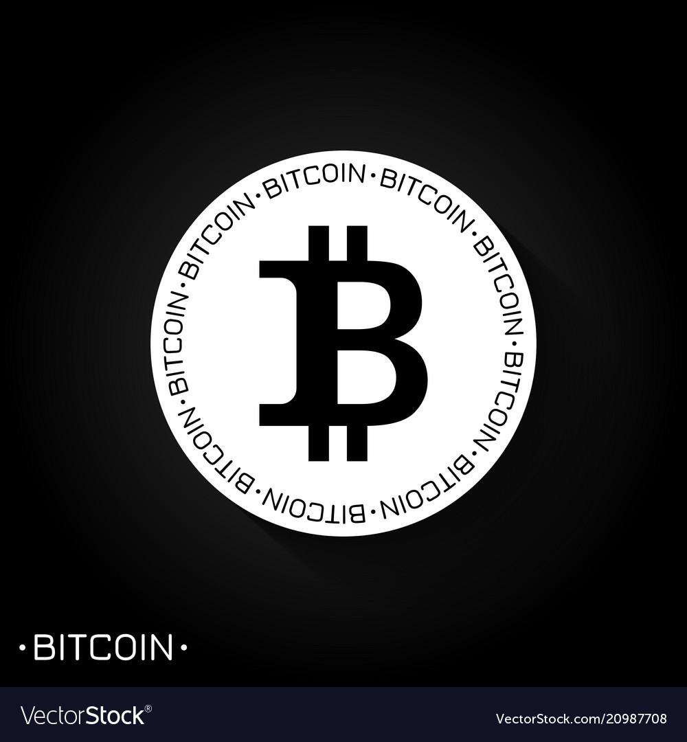 Bitcoin logo icon black and white