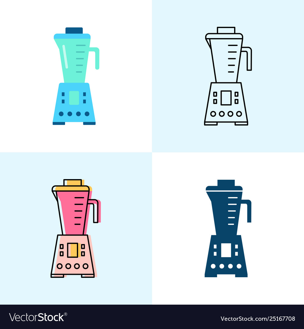Blender icon set in flat and line styles