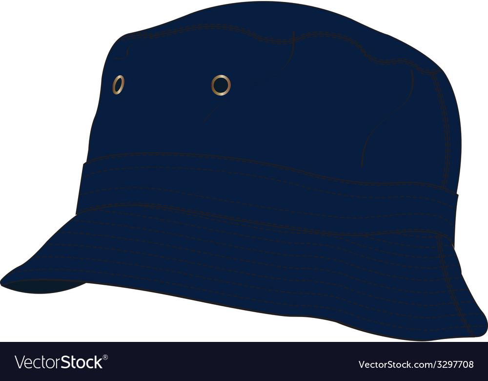 Bucket Hat Template Vector Image