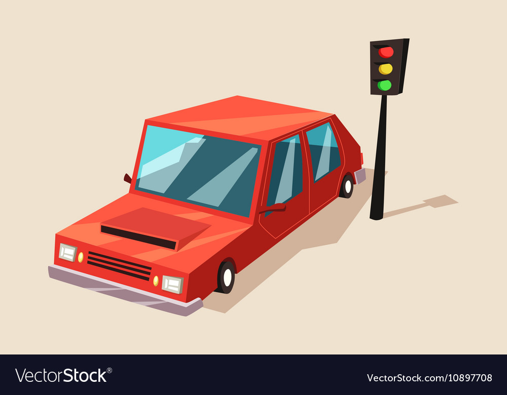 Car or auto automobile vehicle at traffic light