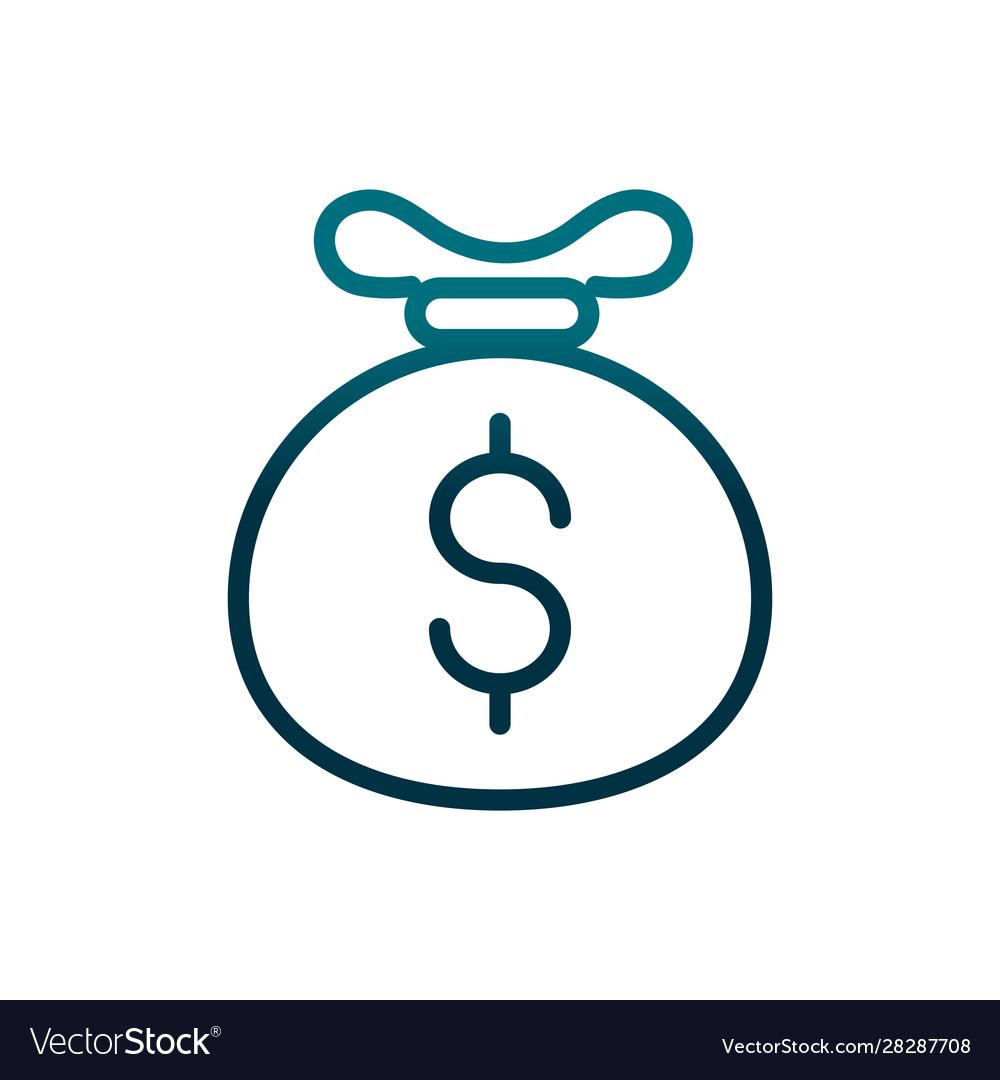 Economy business bag money investing gradient