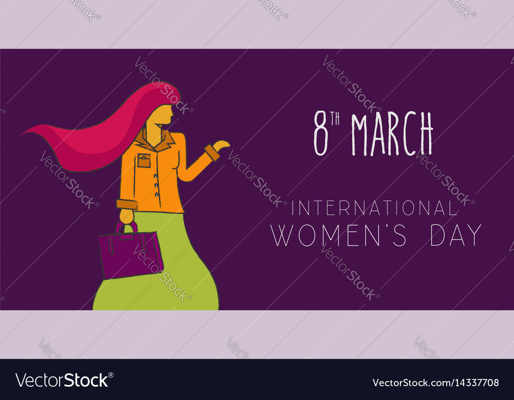Happy 8 march international women day concept vector image