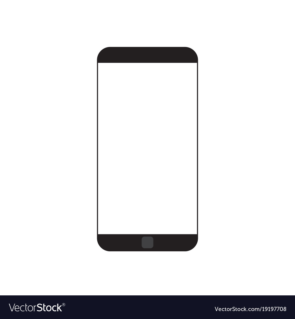Modern cell smart phone with white empty screen