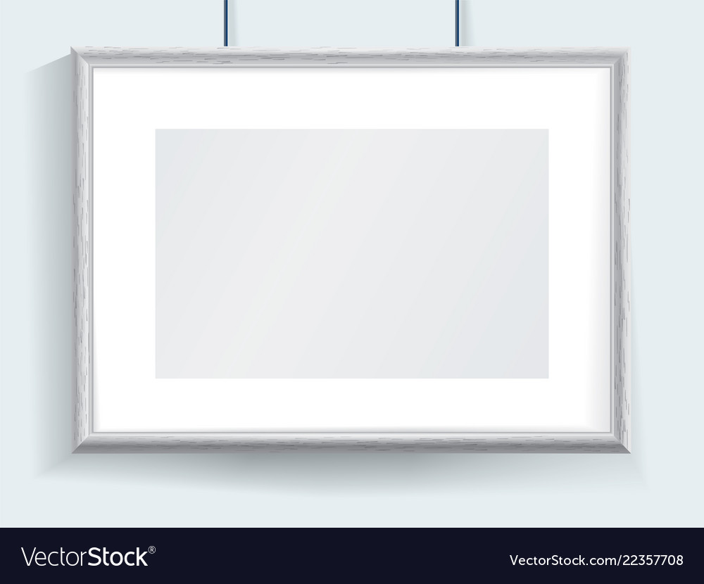 Official horizontal realistic grey border hanging