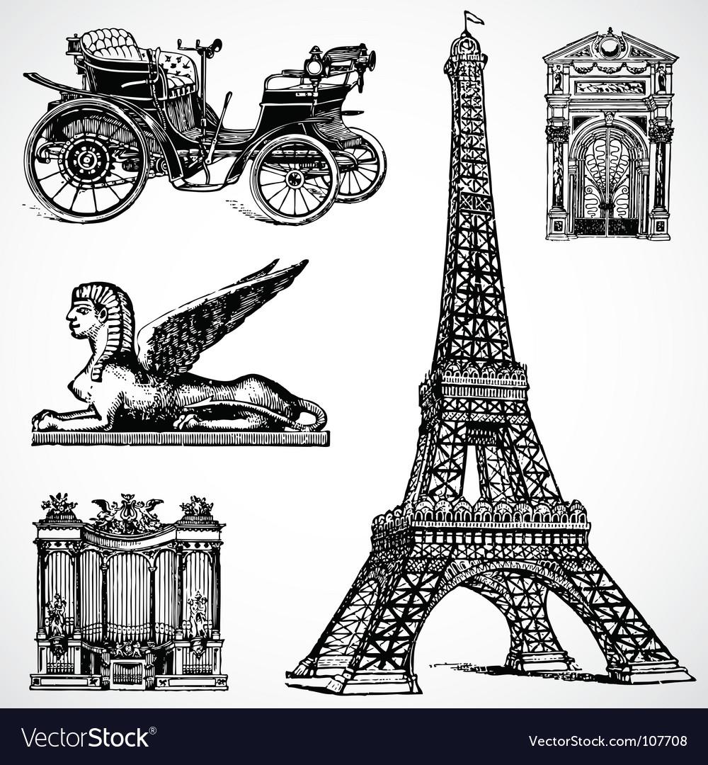 Retro historical graphics vector image