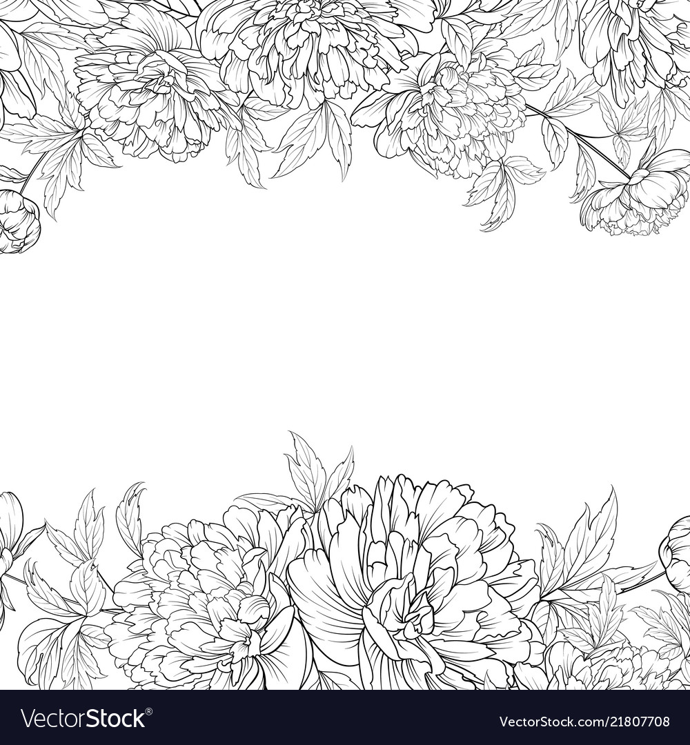 Spring flowers bouquet of peony garland