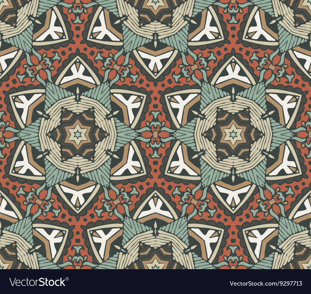 Abstract vintage seamless pattern ornamental