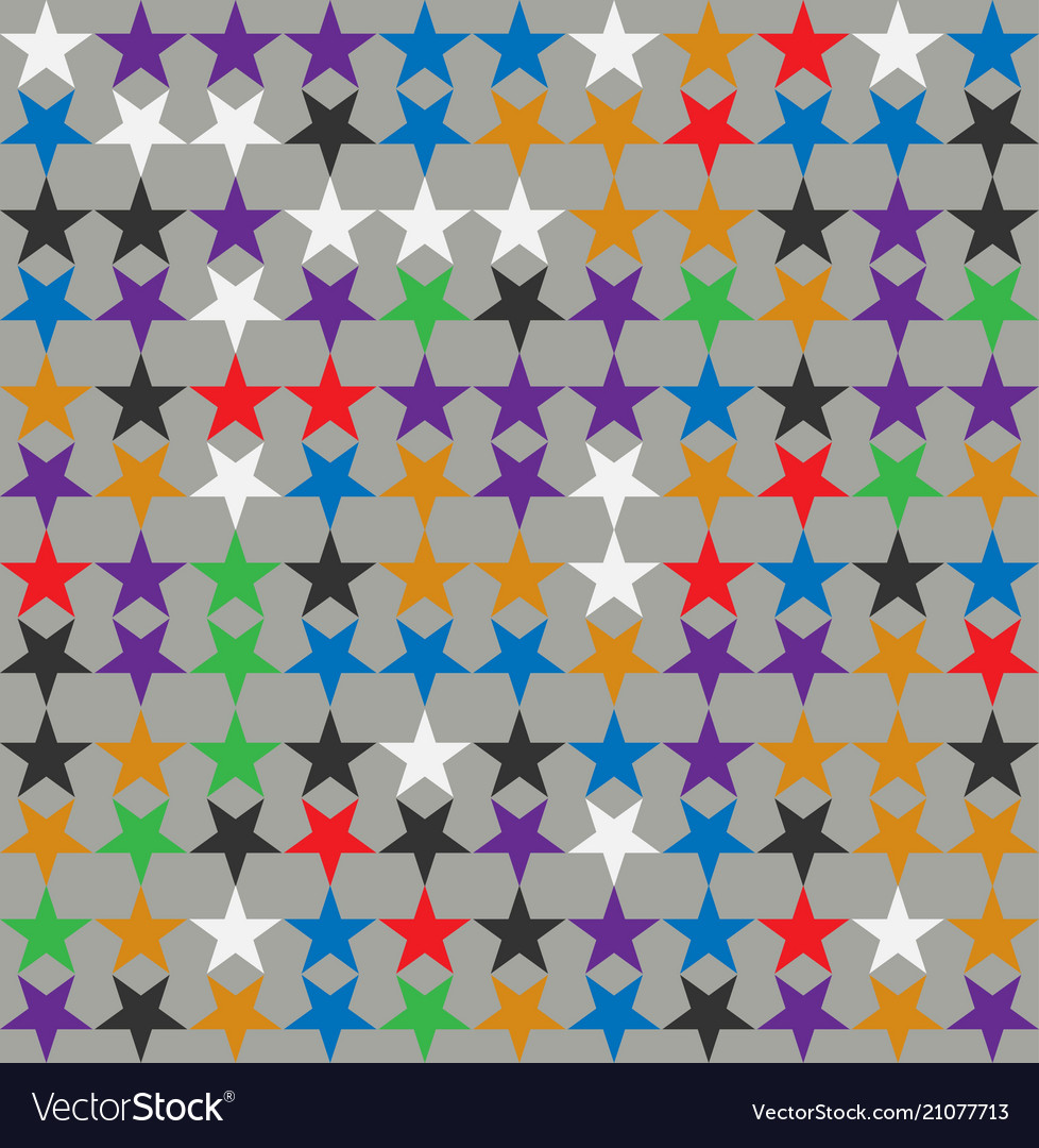 Background with colorful stars