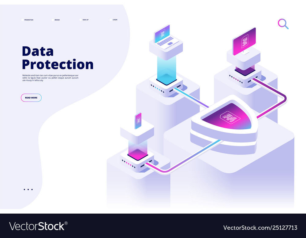 Data protection concept digital security channel