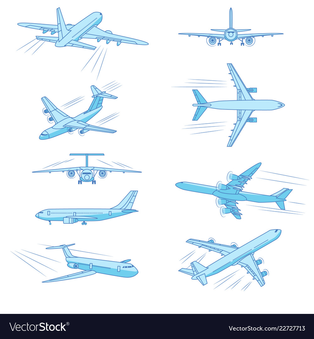 Flying airplanes jet planes airliners of