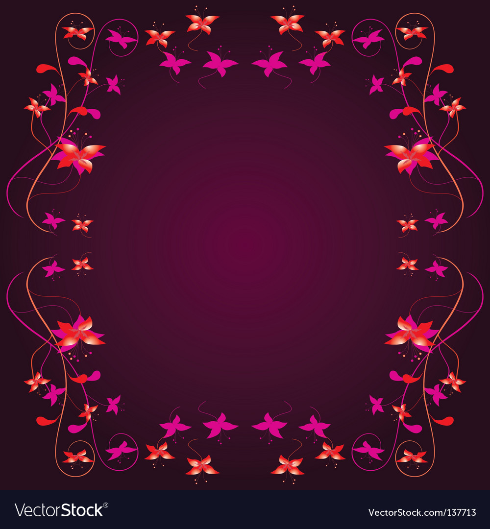 Frame with a floral border vector image