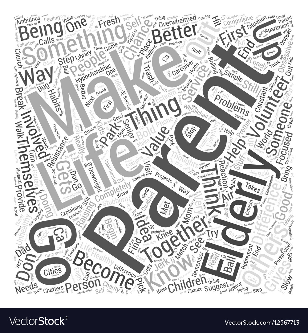 Making a Difference Together Word Cloud Concept vector image